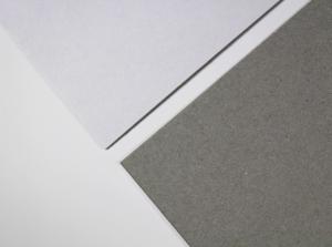 Duplexkarton Vorder- und Rückseite