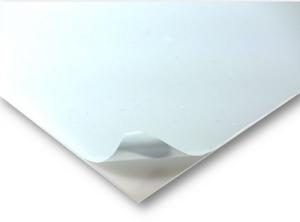 VIVAK / PET-G transparent 0,75 mm  25 x 50 cm beidseitig mit Schutzfolie  VE = 10 Stück